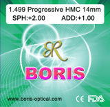 Progressive Cr39 1.499 Short Corridor 14mm Hmc Optical Lens