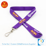 Promotional 3D Screen Printed Polyester Purple Card Lanyard