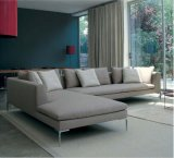Italy Big L Shape Fabric Sofa for House Use (SF026)