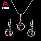 2016 Wholesale Fashion Copper Silver Plated Jewelry Sets