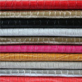Wholesale High Quality Stone Textured PU Leather for Shoes, Furniture
