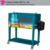 Portable 80 Qt Rolling Patio Stainless Steel Cooler Cart