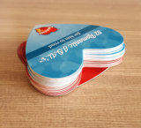 Loving Heart Shape Paper Game Cards