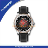 Swiss Wrist Watch with Genuine Leather Band for Ladies
