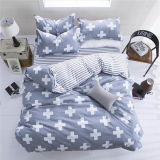 Printed Microfiber Polyester Quilt Duvet Cover Set