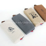 4PCS Retro Students Pencil Bags Fabric Linen Paris Memories