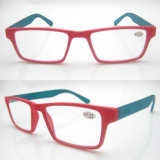 Fashion Red Frame Green Temples PC Reading Glasses