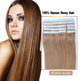 #16 Beige Blonde Large Stock Double Drawn Extensions Brazilian Brown Tape Hair Extension