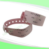 Write-on Hot Selling Soft Hospital Baby Medical ID Wristbands (6020B4)