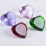 New Design Crystal Heart Diamond Paperweight for Wholesale