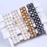 Wholesale Double Layer Freshwater Pearl Beads Bracelet