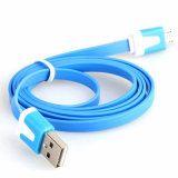 Flat Scalable Mobile Phone Charging USB Cable for Samsung