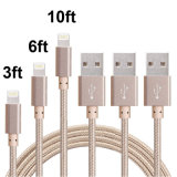 High Speed Charger & Transfer Nylon Braided USB Data Cable for iPhone 5/6/7