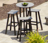 New Modern Club Outdoor Patio Saddle Wooden Bar Stools Hotel Leisure Commercial Furniture (4+1)