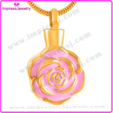 Ashes Jewellery Memorial Necklace Gold Plating Stainless Steel Beautiful Rose Pendant