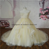 Sweetheart Lace Skin Color New Design Bridal Dress
