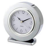 Round Shape Silver Chrome Metal Alarm Clock