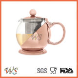 Wschmy044 Rose Gold Color Tea Pot Copper Plating Tea Pot Tea & Coffee Tool