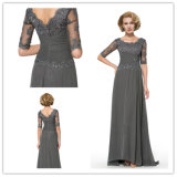 Appliques Half Sleeve A-Line Chiffon Mother of The Bride Dress (Dream-100040)