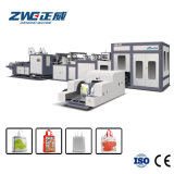 High Speed Automatic Cubic Boxing Non Woven Bag Making Machine with Two Color