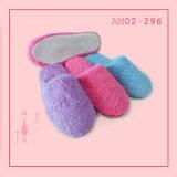 Ladies Solid Color Plush Winter Indoor Fashion Slipper