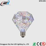 Fancy Design RGB LED Copper Wire Lamp in Diamond Shape