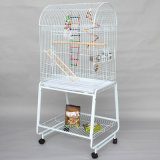Large Bird Cage Large Breeding Bird Metal Wire Cage Bird Pigeon House Parrot Cage with Wheels