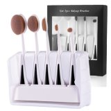 Cosmetics Brush Manufacturer Patent 5PCS Make up Brush Set with Pedestal