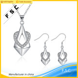 Heart Shape Cubic Zirconia Fashion Jewelry Set for Girl