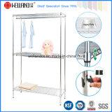 NSF DIY Chrome Metal Wire Wardrobe Garment Rack Shelf