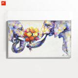 Wildlife Animal Wall Art Elephant Oil Painting