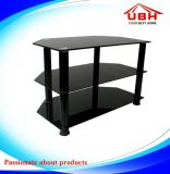 Brief Glass Shelf and Aluminum Holder Display Stand