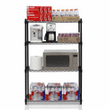 "4-Tier Multi-Functional Durable Office Storage Metal Wire Shelf Shelving Unit in Black, 14""X36""Xh54"" Do It Yourselves"