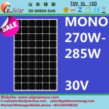 30V Mono PV Solar Panel 270W-285W Positive Tolerance (2017)