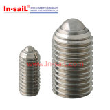 Stainless Steel Door Slotted Spring Plunger out Threaded