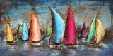 Museum Quality 3D Metal Wall Art Oil Painting for Sailing