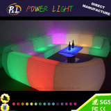 Colorful Rechargeable Bar Furniture LED Plastic Sofa Sets