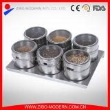 Stainless Steel Salt Pepper Condiment Shaker 6PCS Set Spice Jar