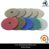 Angle Grinder Dry Flexible Polishing Pads 5 Steps with Velcro