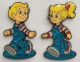 Custom Made Kids′ Lapel Pin with Soft Enamel&Glitter (badge-193)