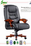 Swivel Leather Executive Office Chair with Solid Wood Foot (FY9025)
