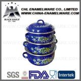 Factory Wholesale Full Color Customized Logo Printing Enamel Casserole Set