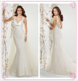 Fabulous Mermaid Cap Sleeves Open Back Court Train Lace Applique Organza ...