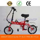 "48V 250W 14"" Electric Folding Ebike with Standing Battery for 60 Km Endurance Distance"