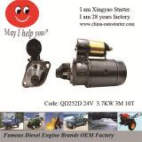 3.7kw 24V Muti Cylinder Diesel Engine Starter for Jiangdong (QD252D)