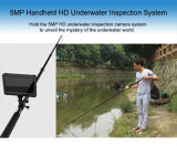 """Handheld 5MP 1080P Full HD IP68 Rate Waterproof Underwater Inspection Camera System with 5m Telescopic Pole Camera and 7"""" HD DVR Recorder"""