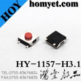 5pin SMD Tactical Switch with 6.2*. 6.2*3.1mm Red Round Button for Digital Products (hy-1157-h31)