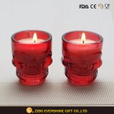 Skull Shot Glass Candle Holder with Colors