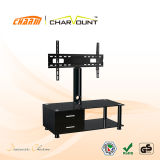 High Quality Tempered Glass & MDF Modern Universal TV Stand Has Drawers (CT-FTVS-N101WB)