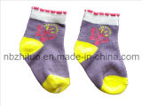 Baby Children Infant Toddler Cotton Computer Jacquard Socks (ZT-BS-019)